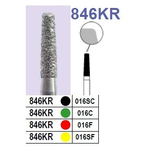 Fraise diamantée N°846KR boîte 10 pièces