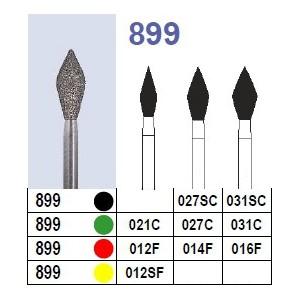Fraise diamantée N°899 boîte 10 pièces  Fraises diamantées –  :  –  €